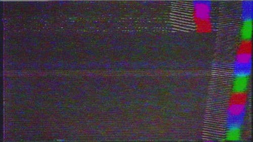 VHS defects noise and artifacts, glitches