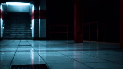 Empty Metro Station During the Coronavirus Covid19 Pandemic
