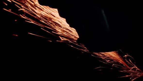 Sparkler Lighted in the Dark