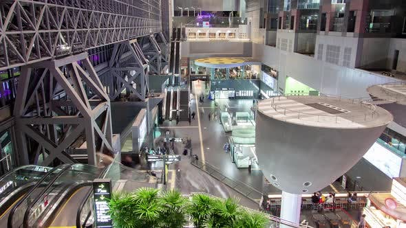 Thumbnail for Kyoto Railway Station Depot Inside Shops Timelapse