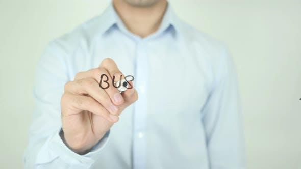 Thumbnail for Geschäftsfehler, Schreiben auf transparentem Bildschirm