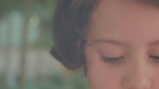 Thumbnail for Portrait Of A Short Chestnut Brown Hair Girl
