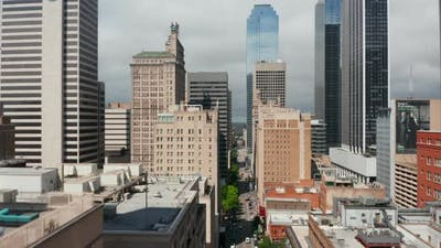 Aerial View Buildings Downtown
