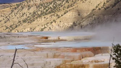 Yellowstone steaming hot pots