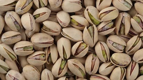 pistachios nuts close up. Pistachios nuts in the peel