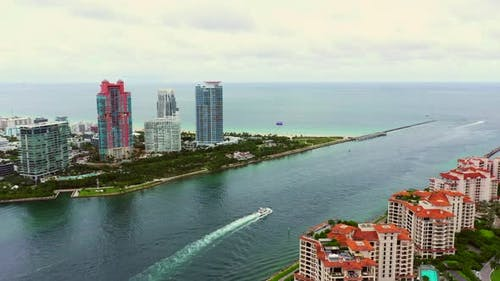 Miami Beach Government Cut Inlet 4k