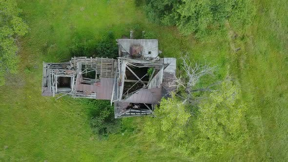 Thumbnail for Abandoned Wooden Church From Above 3