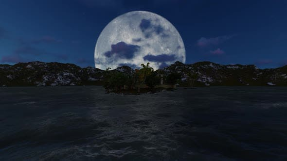 Thumbnail for Panorama of the full moon at nigh