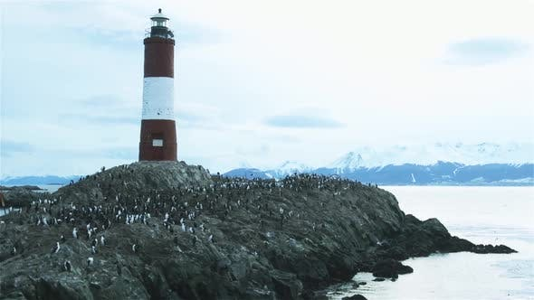 Beagle Channel Lighthouse, Tierra del Fuego, Argentina.