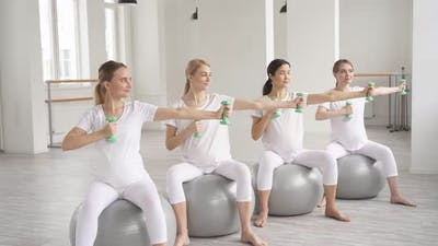 Pregnancy Yoga and Fitness Concept