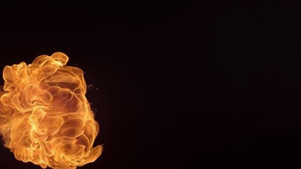 Thumbnail for Fireball in slow motion; shot on Phantom Flex 4K at 1000 fps