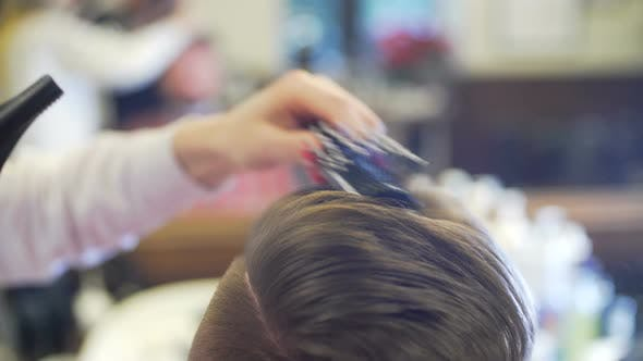 Thumbnail for Young Man Getting Haircut and Hairstyle