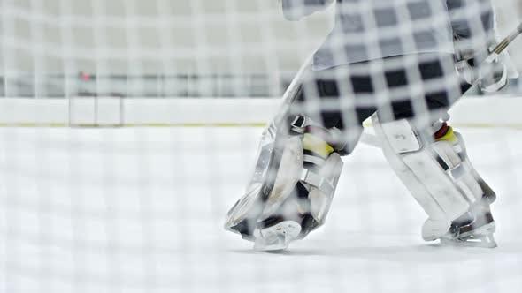 Thumbnail for Hockey Goalie Saving Net
