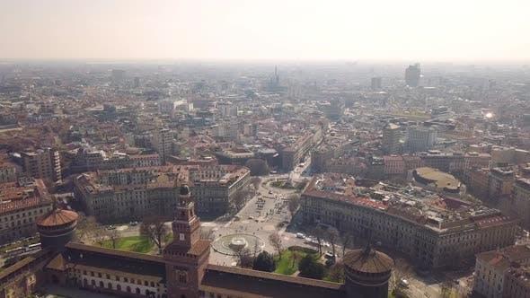 Aerial View of Milan