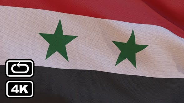 Thumbnail for Syria Flag 4K Seamless Loop