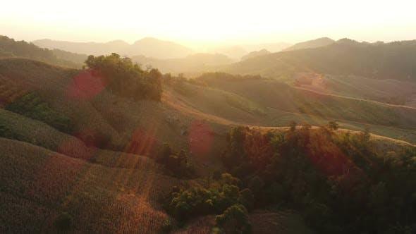 Thumbnail for Aerial Mountain Sunrise