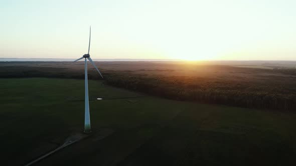 Thumbnail for Alternative Wind Energy Windmill At Sunset