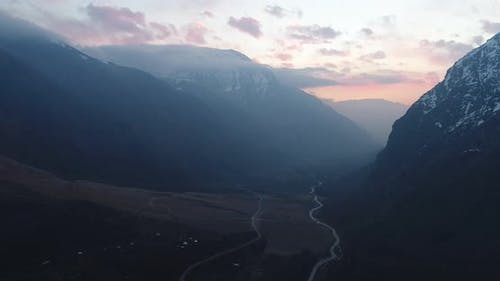 Maipo Canyon Chile Aerial Landscape Andes Mountains