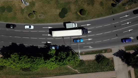 Thumbnail for Aerial City Transport Collection - Top View of Urban Streets and City Road Traffic Jam
