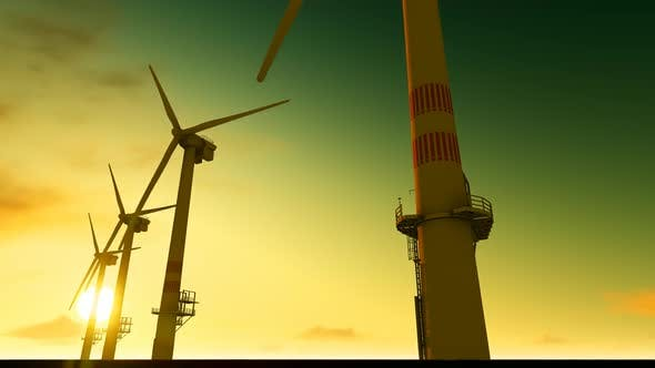 Thumbnail for Windmill Sunset Sky