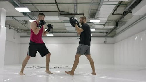 MMA Fighters Practice Wrestling Techniques