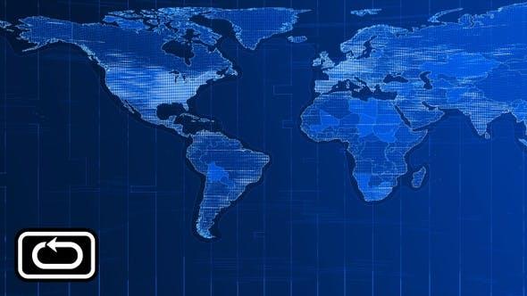 Cover Image for News World Map Front Bg Loop V2
