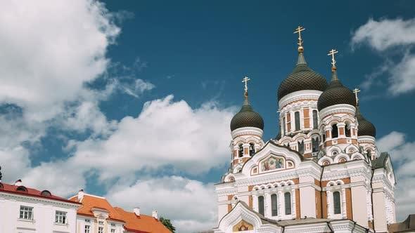 Tallinn, Estonia. Alexander Nevsky Cathedral. Famous Orthodox Cathedral. Popular Landmark And