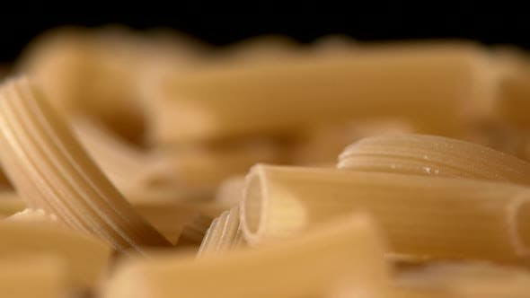 Thumbnail for Type of Italian Pasta, Background, Black, Rotation, Close Up