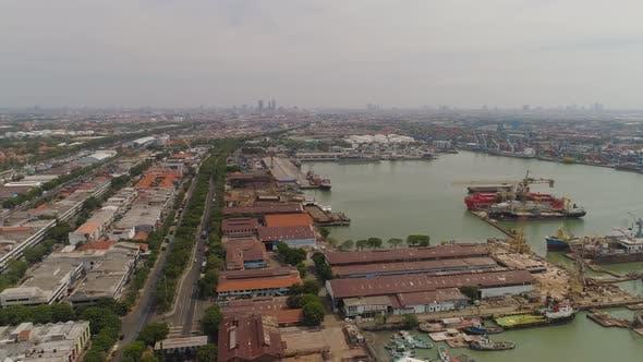 Thumbnail for Cargo and Passenger Seaport in Surabaya, Java, Indonesia