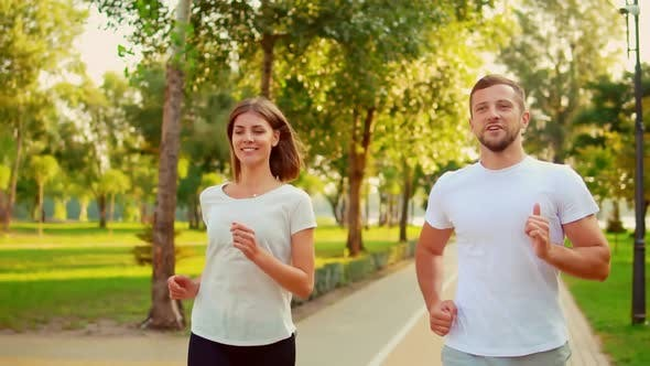 Thumbnail for Athletic People Exercising Together