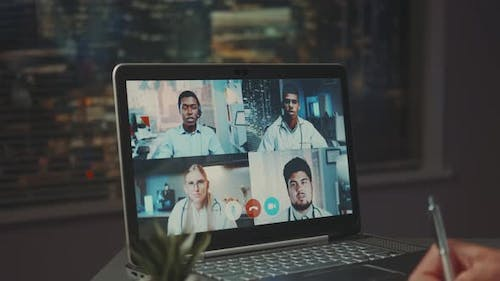 Video Conference of Multiracial Medical Specialists