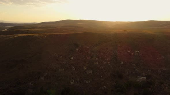 Thumbnail for Aerial View Of The Historic Ruins At Sunset