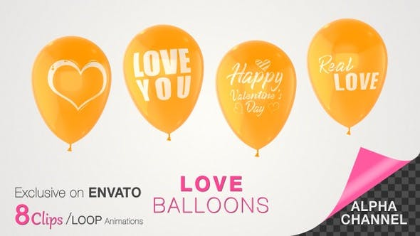 Thumbnail for Valentine's Day Love Balloons