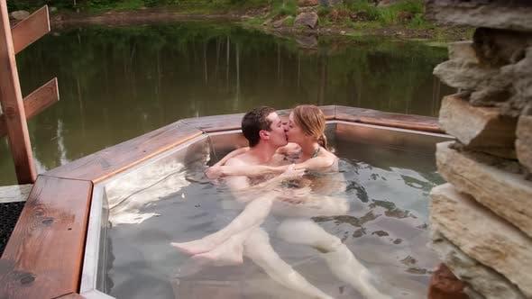 Thumbnail for Couple Enjoying Hot Tub on Romantic Getaway