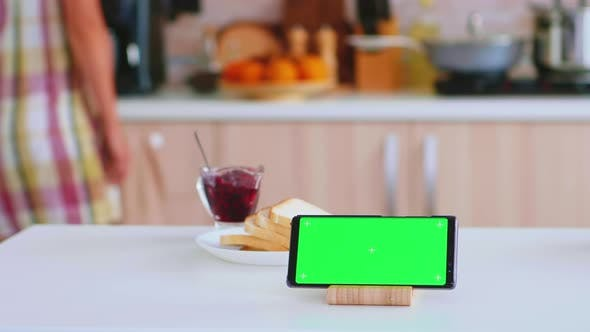 Smartphone with Green Mock Up