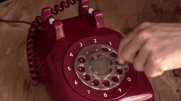 Old Antique Vintage Rotary Dial Telephone Number Dialing