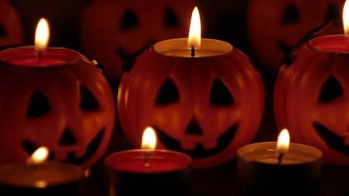 Jack-O-Lantern Candle