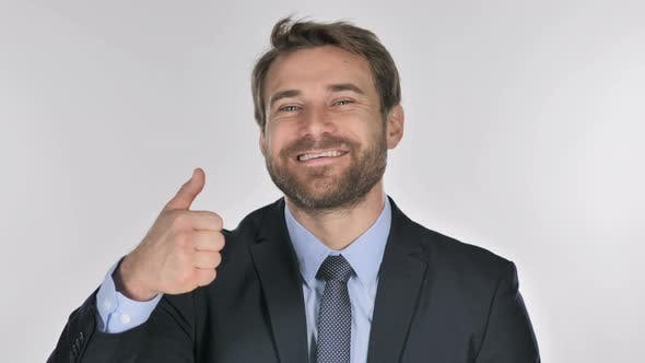 Thumbnail for Portrait of Businessman Gesturing Thumbs Up