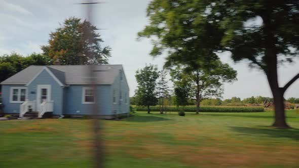 Thumbnail for American Suburbs with White Wooden Houses