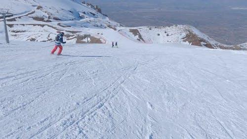 Skiing and Ski Piste