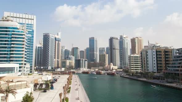 Thumbnail for Dubai Marina Hyperlapse. Pan Up
