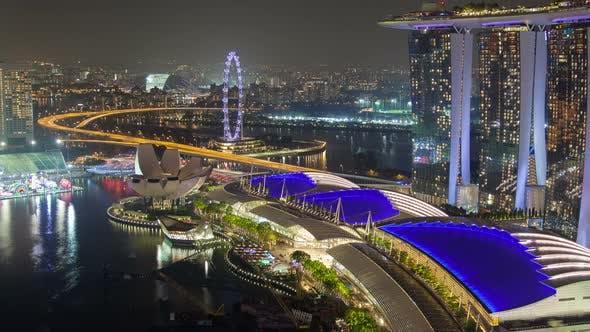 Thumbnail for Night Singapore Cityscape