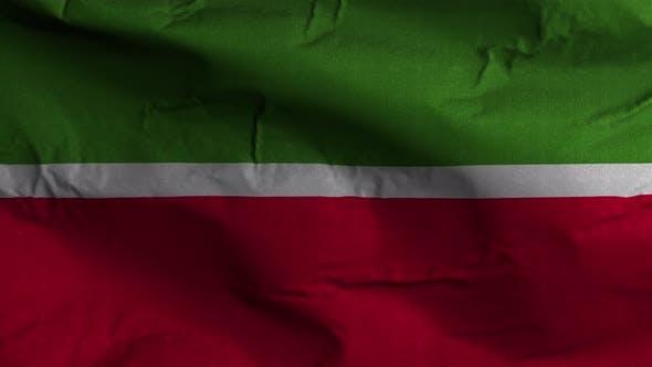 Tatarstan Flag Textured Waving Background 4K