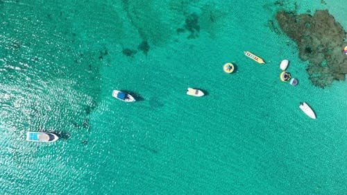 Recreational boats in the sea