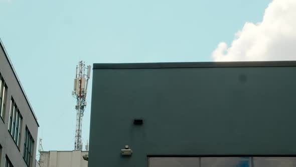 Antennas for Satellite and Radar Networks 4g 5g Transmission Station for Mobile Networks Located on