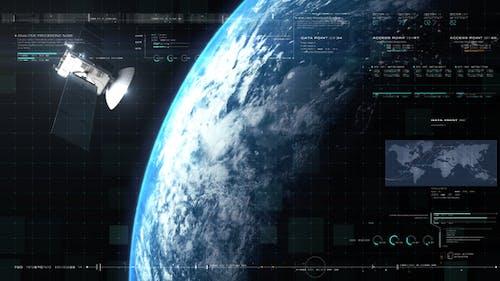 Global Telecommunications Satellite HUD