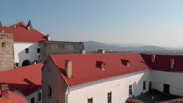 Aerial View of Medieval Castle Palanok