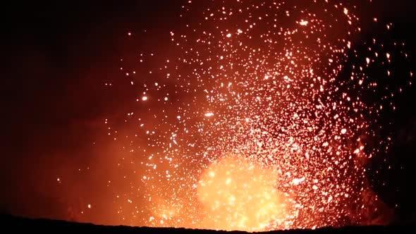 Thumbnail for The Eruption at Vocano Yasur in Vanuatu. February 2014