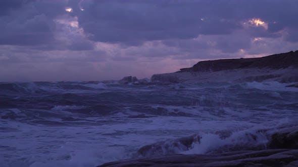 Thumbnail for Wave Crashing Rocks Coast
