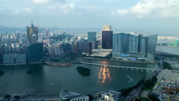 Thumbnail for Macau Peninsula Skyscrapers at Cathedral in China Timelapse